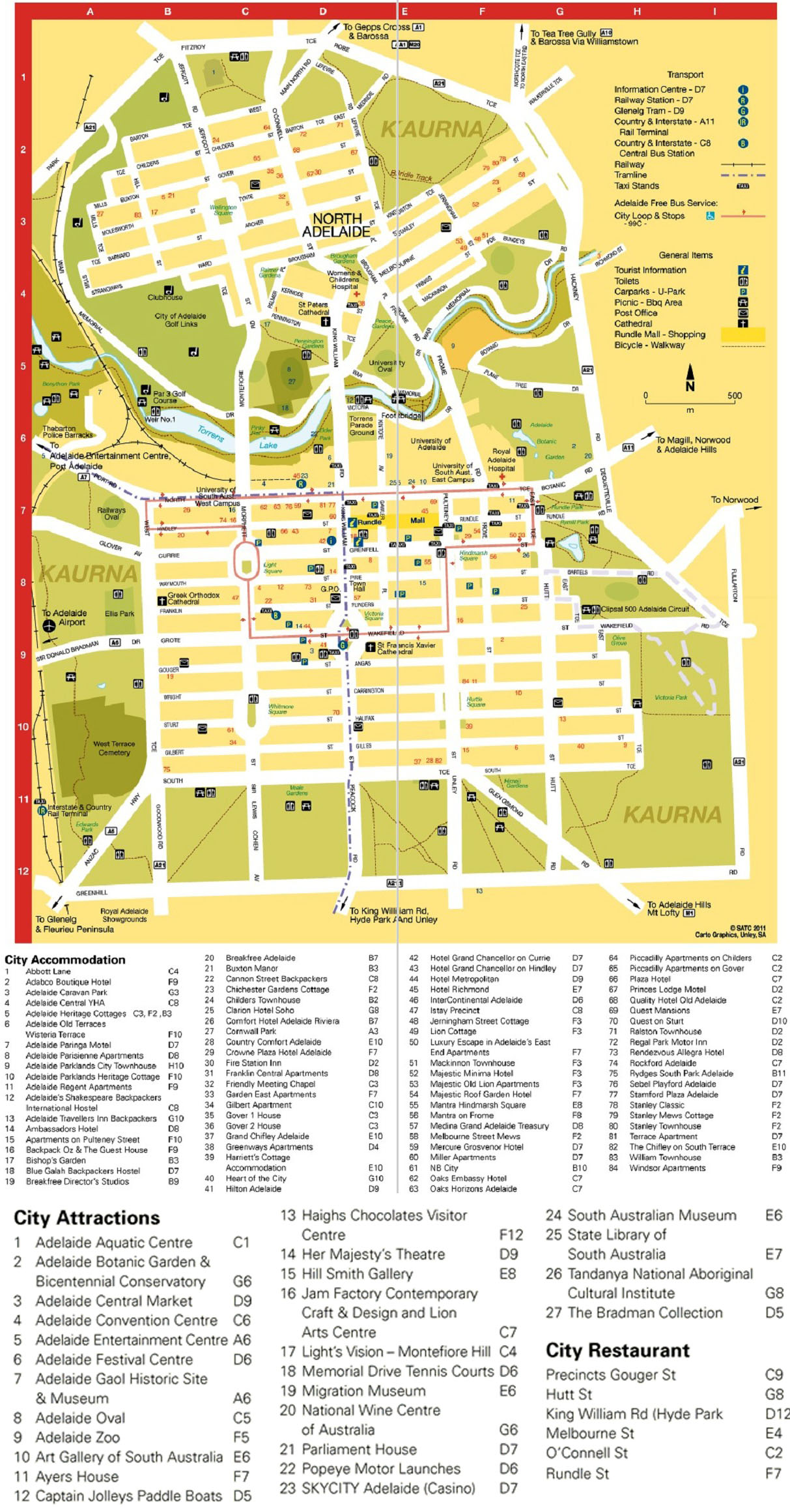 City Map | Adelaide Vacation